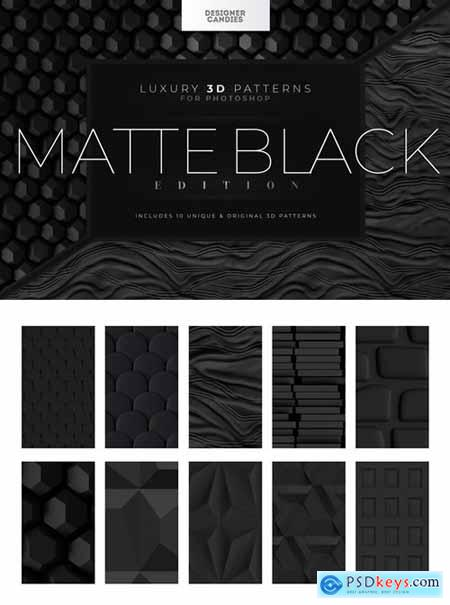 3D Matte Black Patterns
