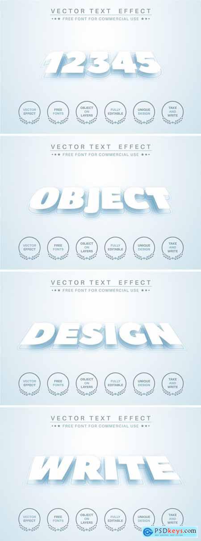 Levitation pape - editable text effect, font style