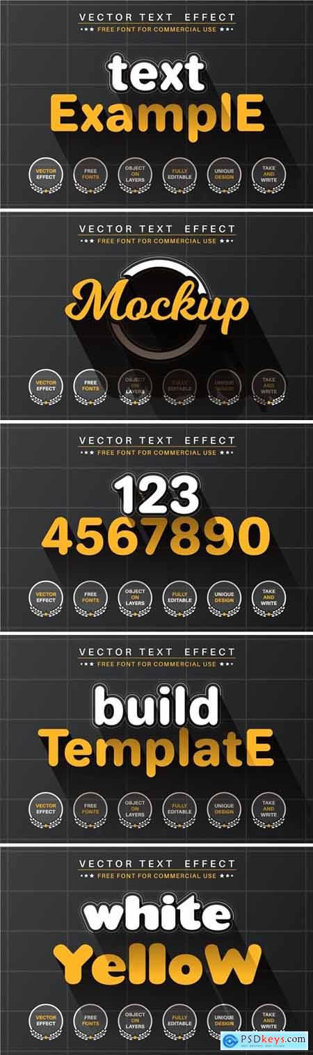 Build template - editable text effect, font style