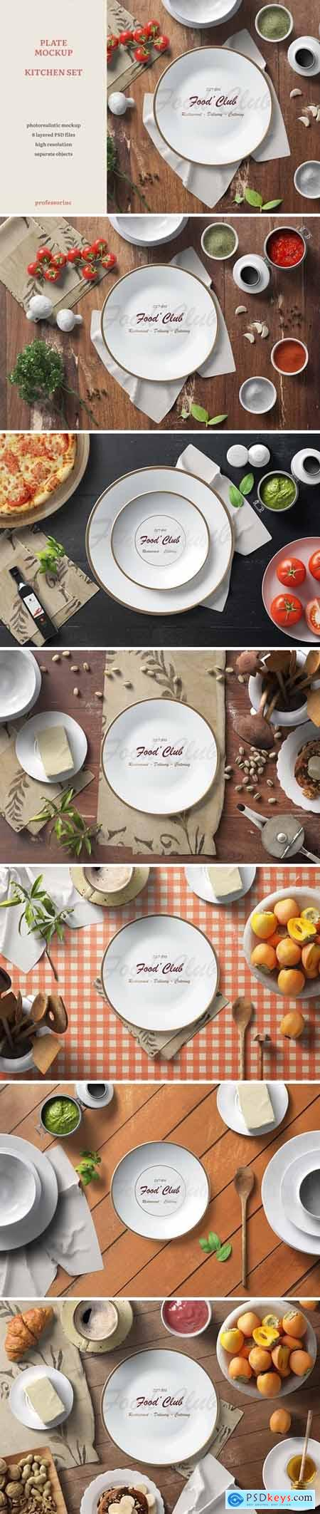 Plate Mockup — Kitchen Set 1