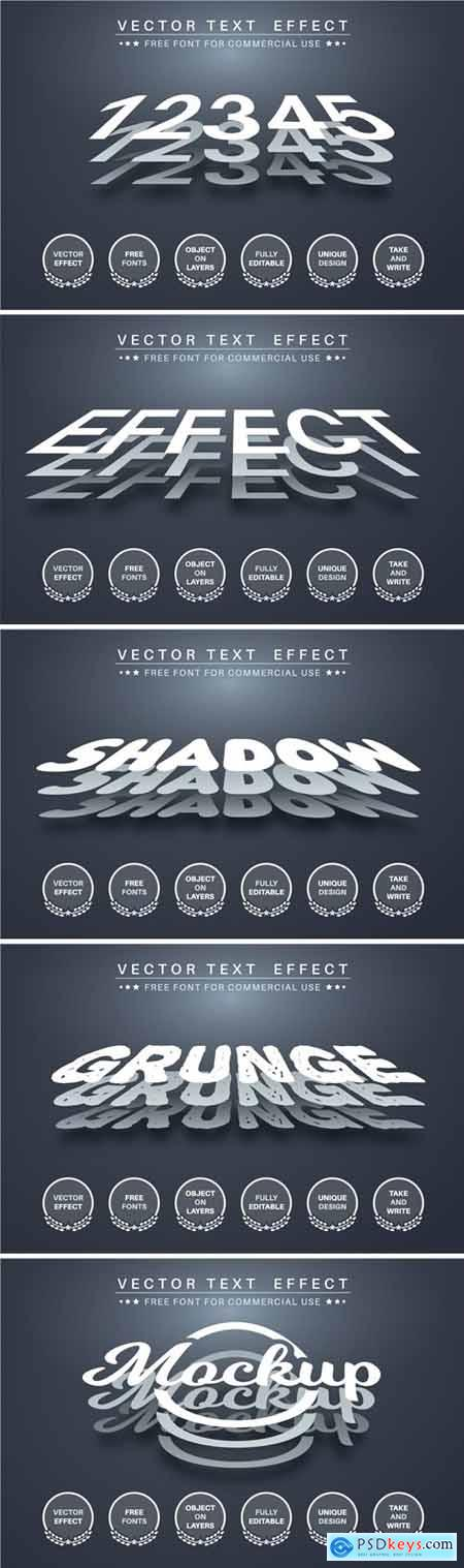 Three layer - editable text effect, font style