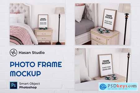 Blank Photo Frame Mockup - Nuzie CSVFLJX