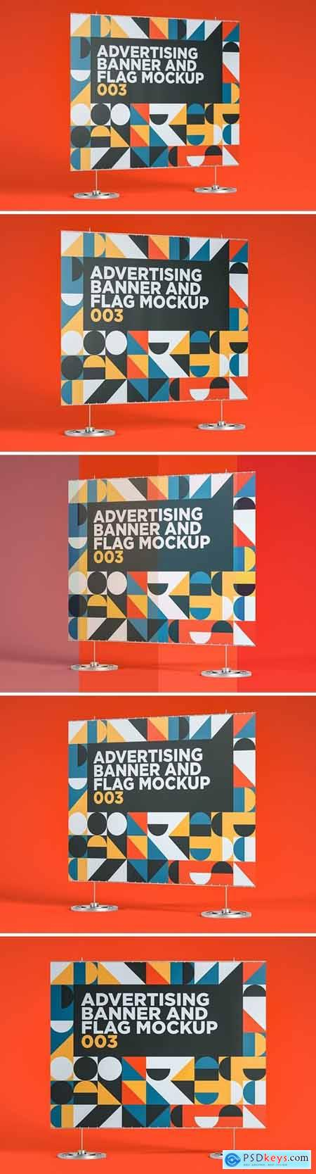 Advertising Banner And Flag Mockup 003