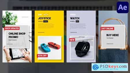 Online Shop Vertical Promo Slideshow - After Effects 31625435