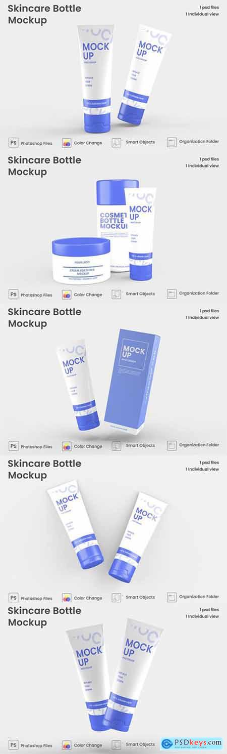 Cosmetic products design mockup