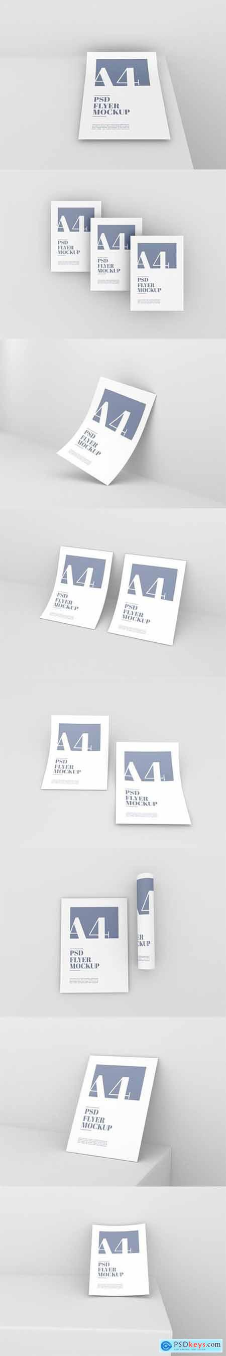 Clean a4 psd flyer mockup