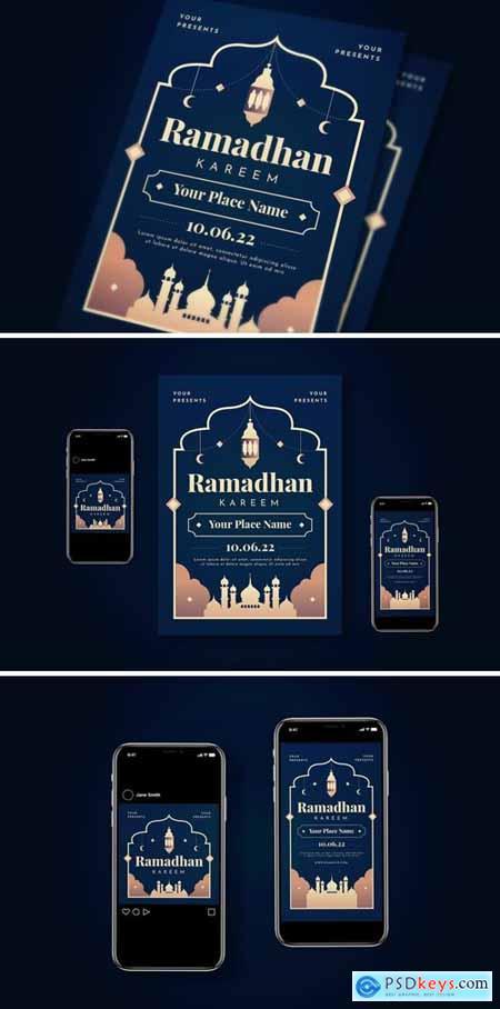 Ramadhan Kareem Flyer Set