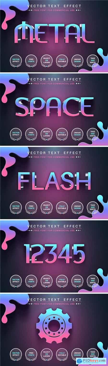 Space - editable text effect, font style