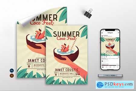 Summer Coco Fest - Flyer, Poster & Instagram GR
