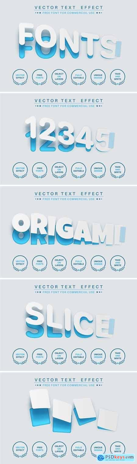 Torn paper - editable text effect, font style