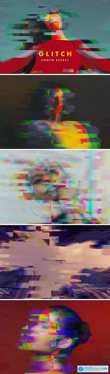 RGB Glitch Photo Effect