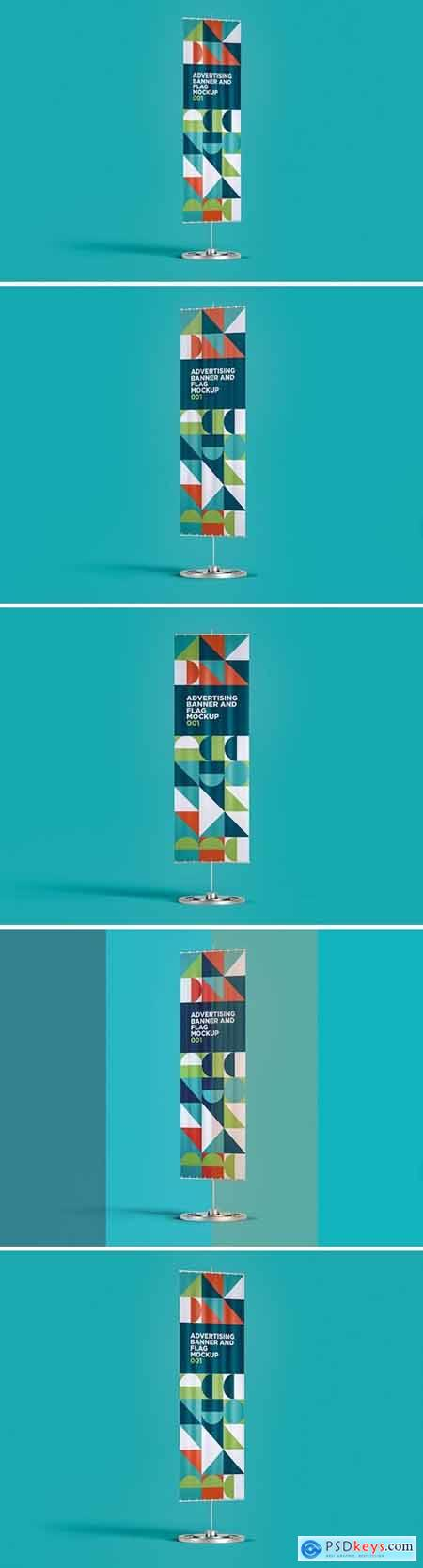 Advertising Banner And Flag Mockup 001