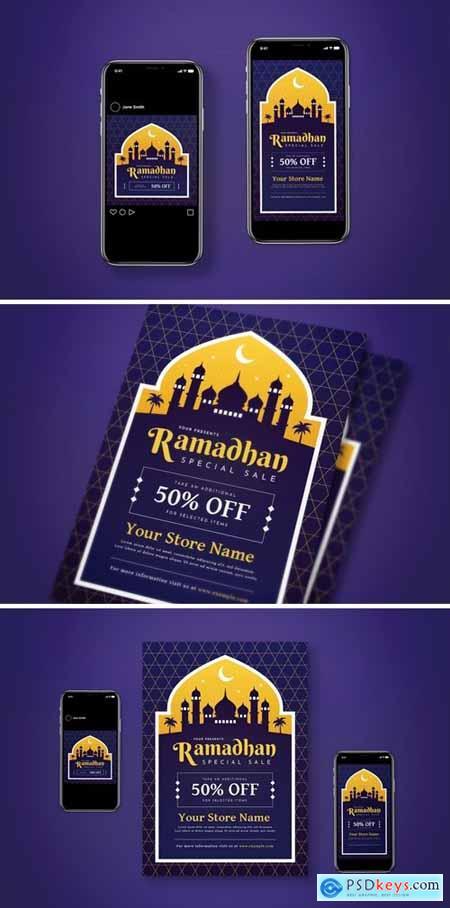Ramadhan Sale Flyer Set