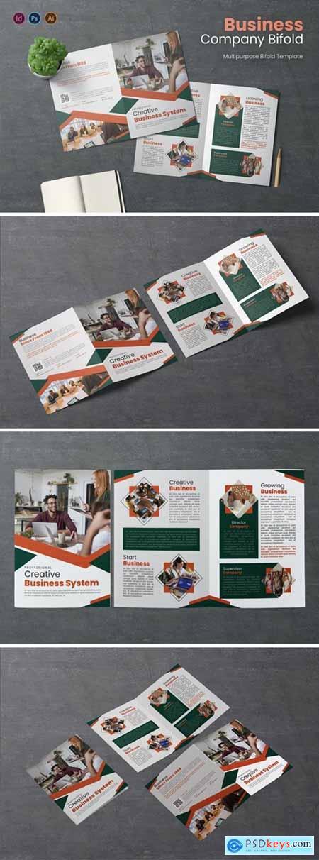 Business System Bifold Brochure