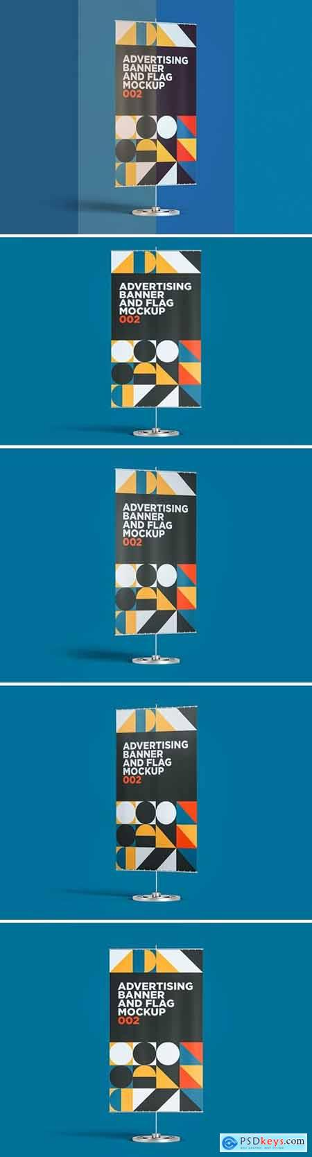 Advertising Banner And Flag Mockup 002