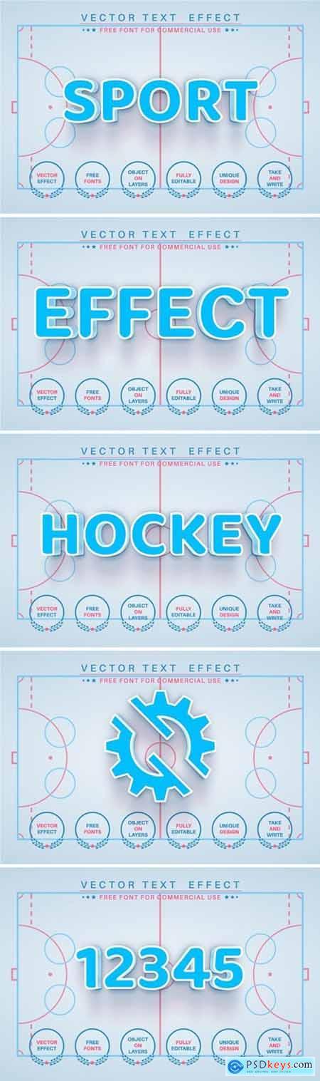 Hockey - editable text effect, font style