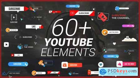 YouTube Buttons Subscribe Pack MOGRT 31422862