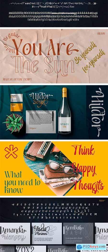 Hildor Font Family