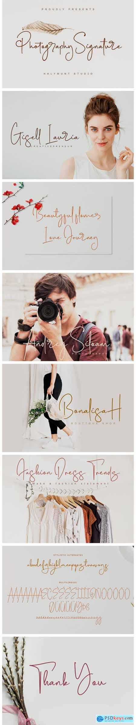 Photography Signature Font