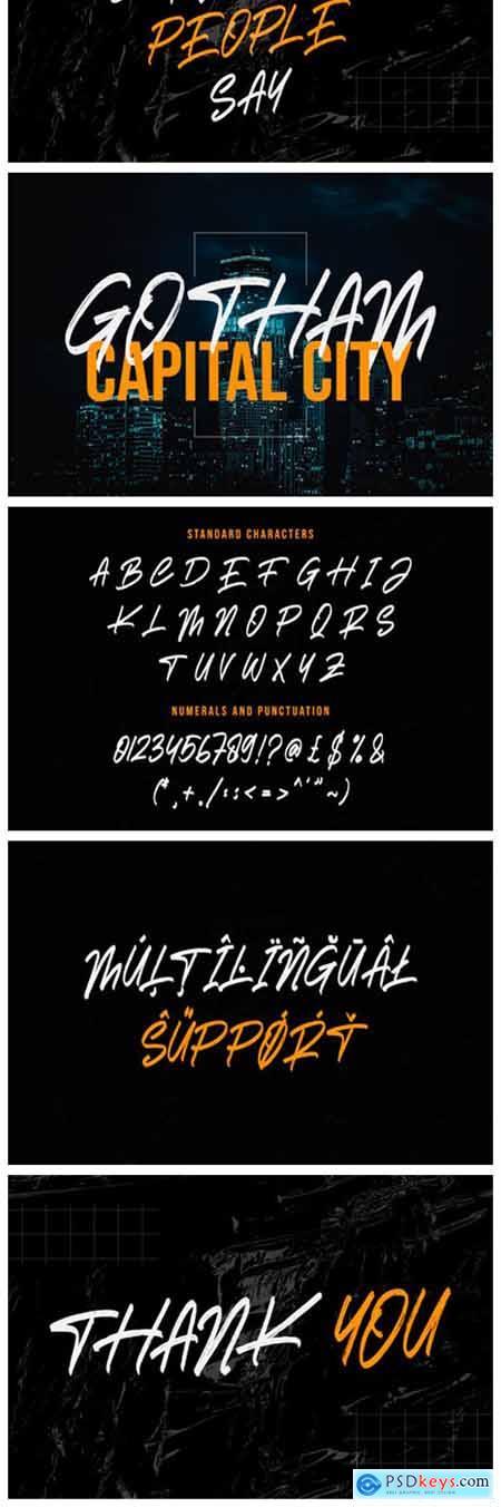 Darkness Brush Font