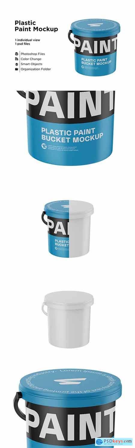 Glossy Plastic Bucket Mockup 6063383