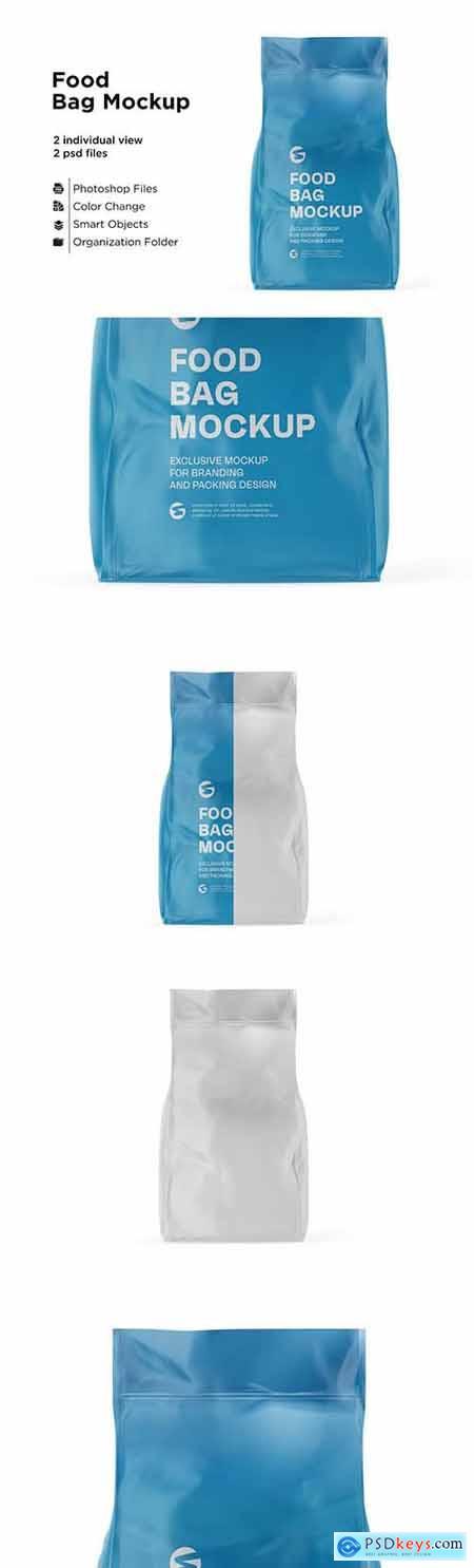 Glossy Food Bag Mockup 6063318