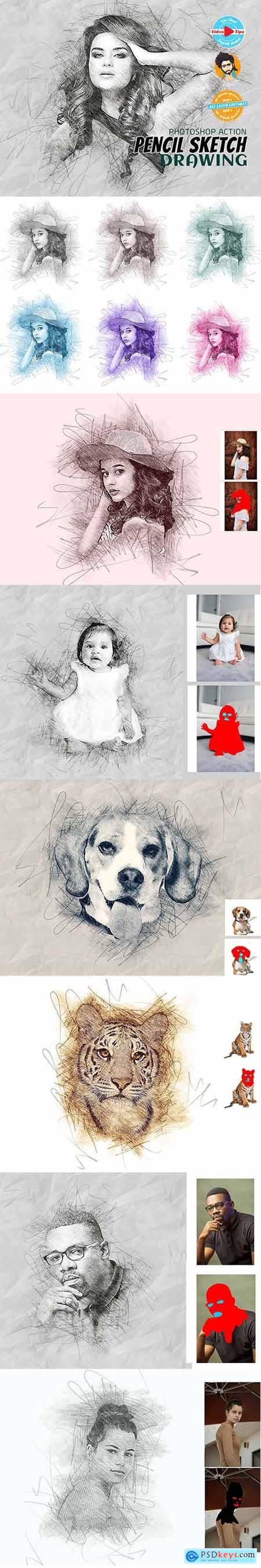 Pencil Sketch Drawing 5962486