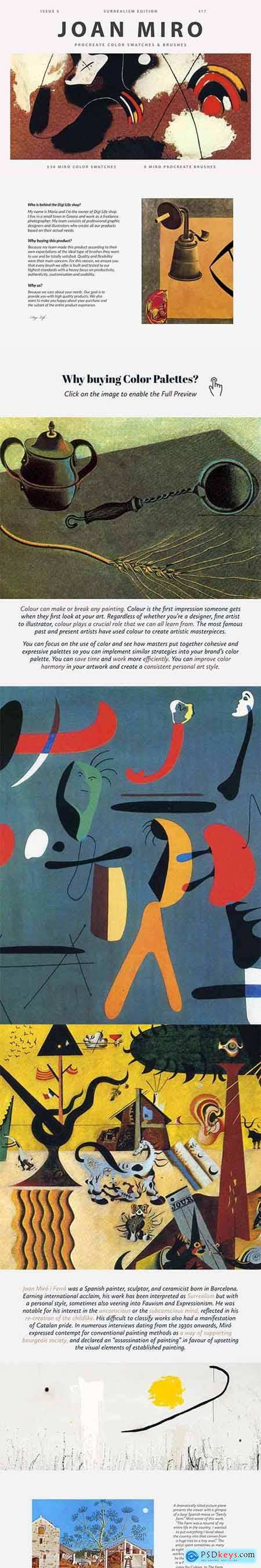 Joan Miros Art Procreate Brushes 5965790