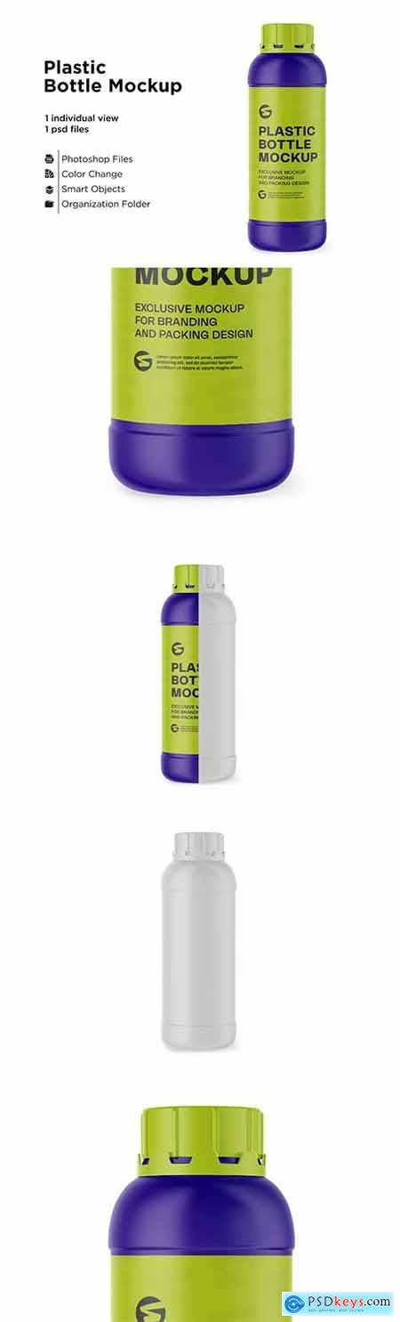 Matte Plastic Bottle Mockup 6063326