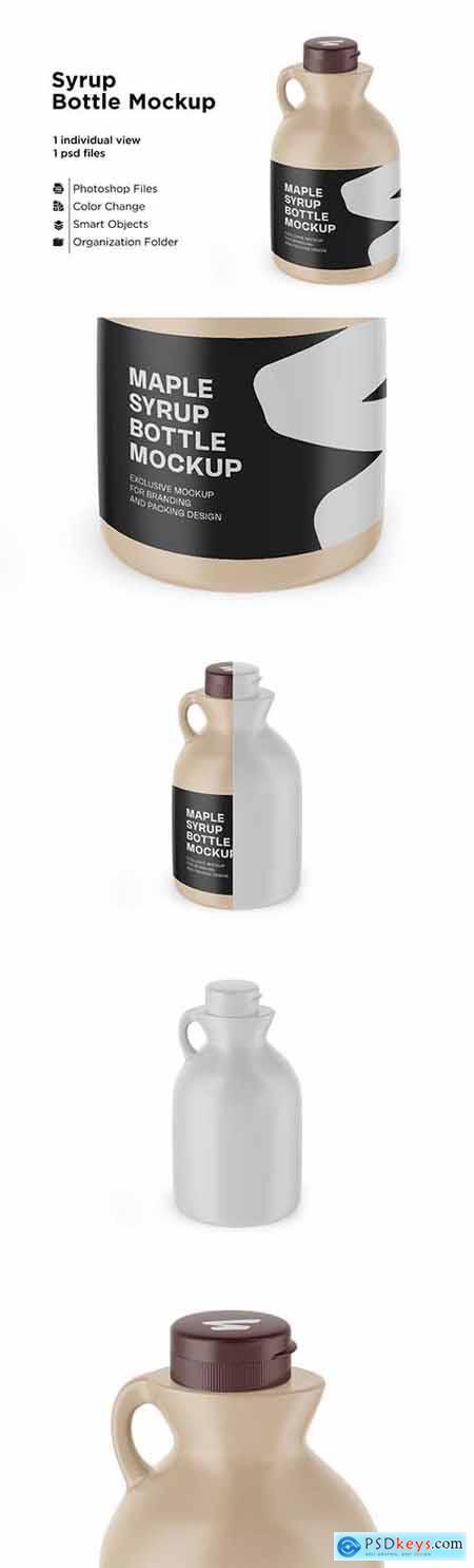 Matte Plastic Maple Syrup Bottle 6063334