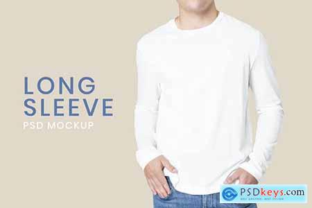 T-shirt psd mockup template long sleeve