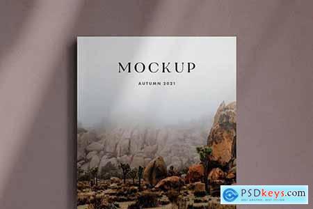 A4 Magazine Cover Mockup