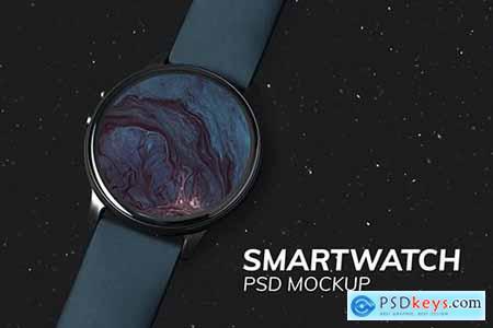 Smartwatch screen mockup psd digital device