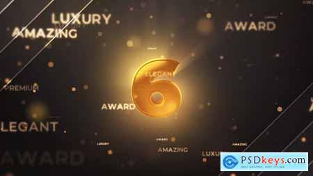 Gold Countdown Intro MOGRT 31658511