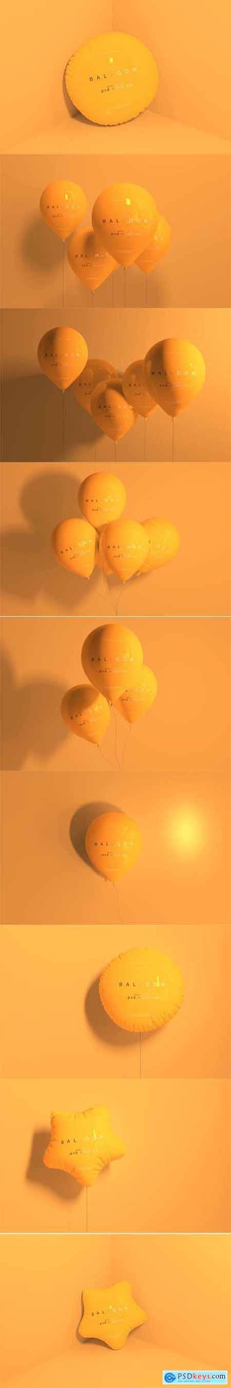 Orange balloon mockup