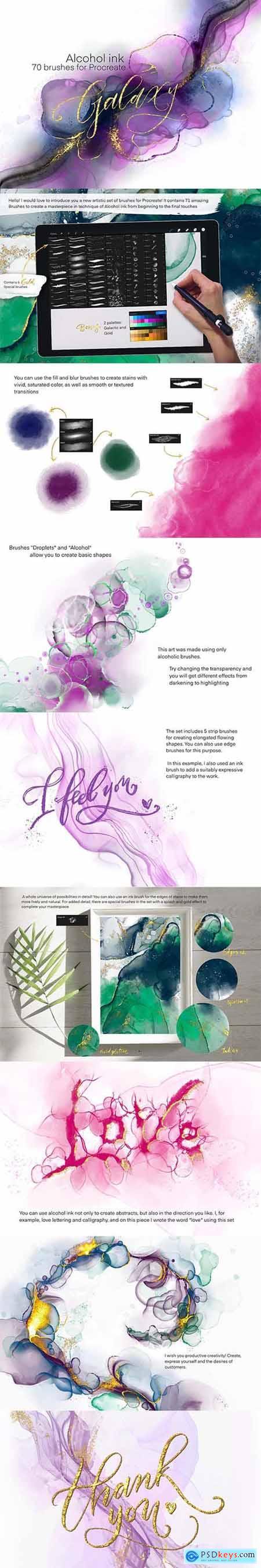 Galaxy Alcohol Ink Brushset 5997008