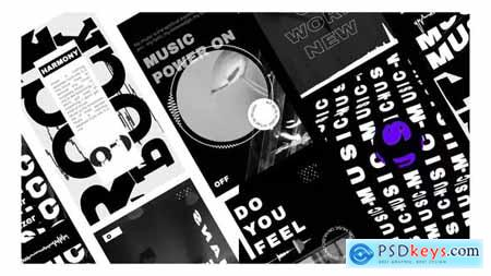 Music Visualizer black and white stories 31693136