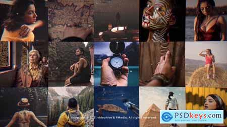 Mosaic Photo Adventure Vlog Logo Reveal 31723311
