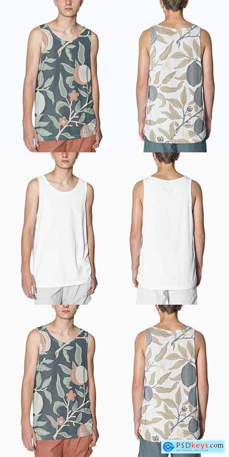 Teen's tank top mockup design streetwear fashion
