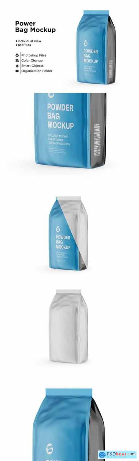 Matte Powder Bag Mockup 6063341