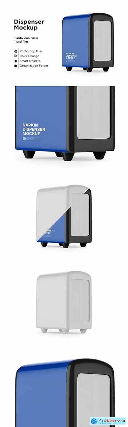 Napkin Dispenser Mockup - Half Side 6063374