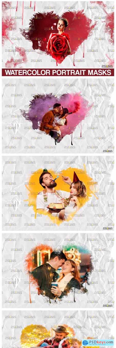 Watercolor Valentine Overlay 8560447