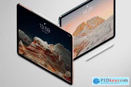 iPad isometric Mockup