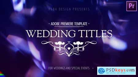 Modern Wedding Titles - Premiere Pro Mogrt 24731646