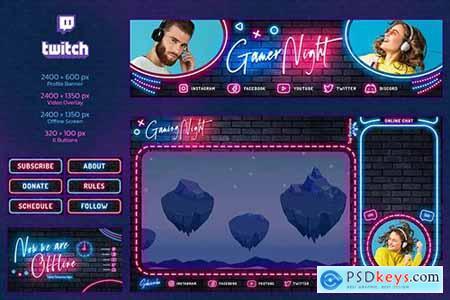 Twitch Neon Gamer