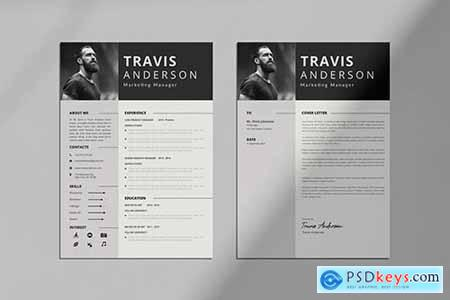 Simple CV Resume & Cover Letter Template