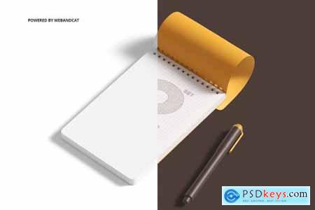 Notepad Mockup Set 2
