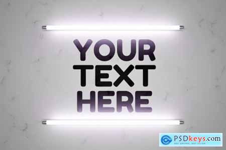 Logo in light - mockup template