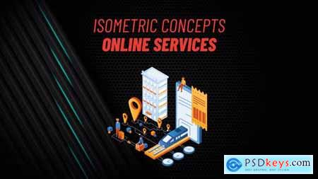 Online Services - Isometric Concept 31813495