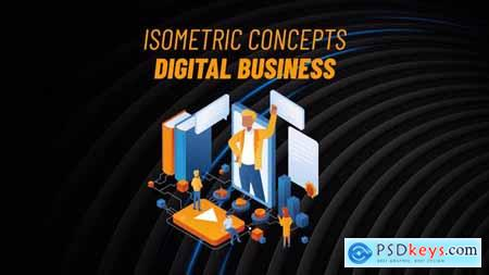 Digital Business - Isometric Concept 31813478